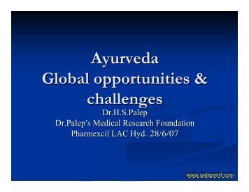 Ayurveda Global opportunities & challenges