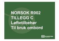 NORSOK R002 TILLEGG C Løftetilbehør Til bruk ombord