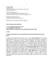 1 dr. Koi Gyula Közigazgatási MA szak I. évf. Európai és nemzetközi ...