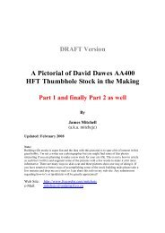 A Pictorial of David Dawes AA400 HFT Thumbhole Stock in ... - Webs