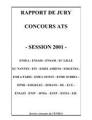 Rapport du jury - Concours ENSEA