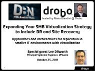 Approaches and architectures for replication in smaller IT ... - Drobo
