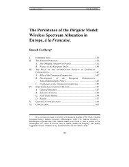 The Persistence of the Dirigiste Model:  Wireless Spectrum Allocation ...