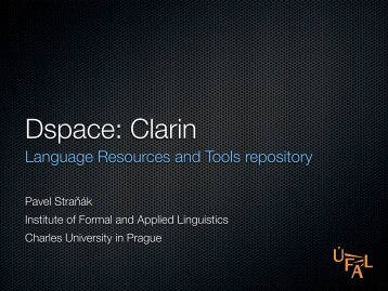 Language Resources and Tools repository - Clarin