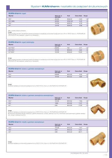 System KAN-therm rozdzielacze - Cennik 07/2013