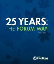 25 Years: The Forum Way - Public Policy Forum