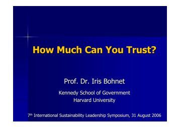 How Much Can You Trust?
