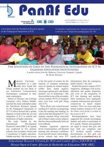 Newsletter / Bulletin d'information PanAf Edu vol. 2, n°4 - College of ...