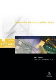 New media, art and a creative culture - Adelaide Thinkers in ...