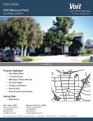 FOR LEASE 5183 Mercury Point - Voit Real Estate Services