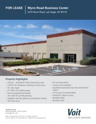 FOR LEASE Wynn Road Business Center - Voit Real Estate Services