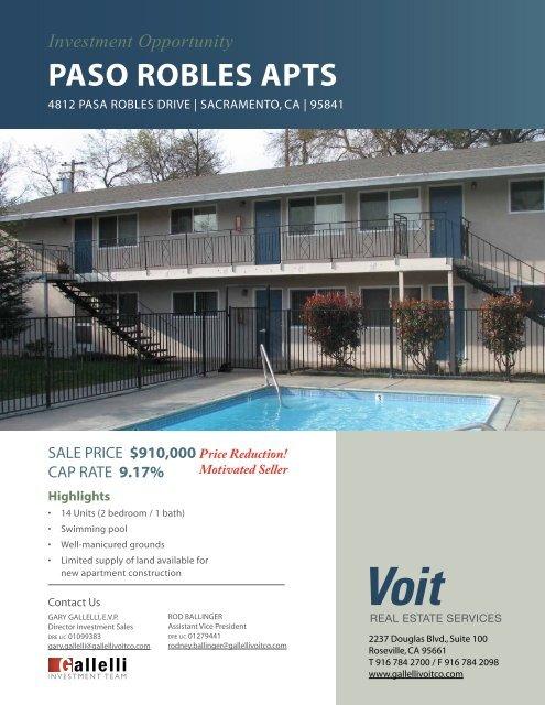 PASO ROBLES APTS - Voit Real Estate Services