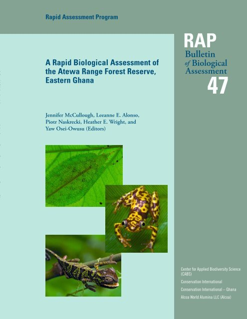 Rapid Survey Of The Birds Of The Atewa Range Forest Reserve Ghana
