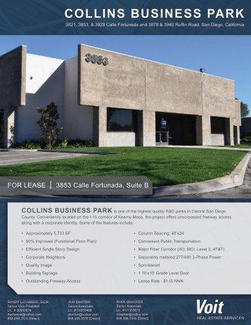 COLLINS BUSINESS PARK - Voit Real Estate Services