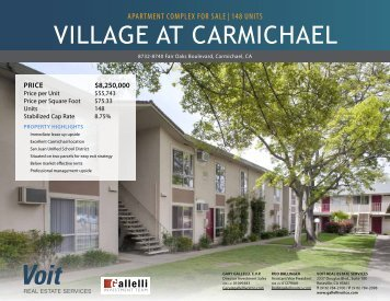 VILLAGE AT CARMICHAEL - Voit Real Estate Services