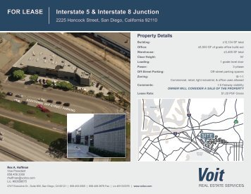 FOR LEASE Interstate 5 & Interstate 8 Junction - Voit Real Estate ...