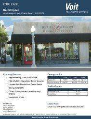 FOR LEASE Retail Space - Voit Real Estate Services