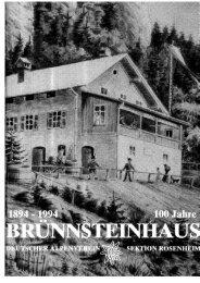 Festschrift - Deutscher Alpenverein