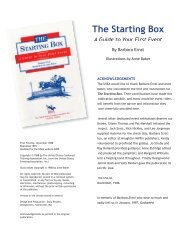 The Starting Box - A Guide to Your First Event - United States ...