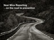 Near Miss Reporting …on the road to prevention