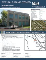 FOR SALE-BANK OWNED - Voit Real Estate Services