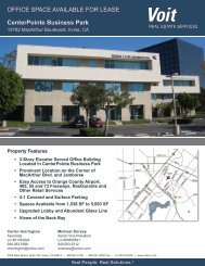OFFICE SPACE AVAILABLE FOR LEASE CenterPointe Business Park