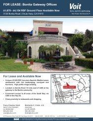 FoR LEASE: Bonita Gateway offices - Voit Real Estate Services
