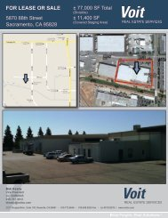 FOR LEASE OR SALE - Voit Real Estate Services