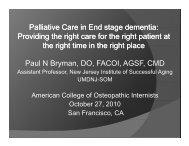 Palliative Care in End stage dementia - American College of ...