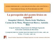La percepción del acento léxico en español - Grup de Fonètica ...