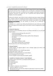 1) Criteri e modalità di selezione dei volontari: - CSV Marche