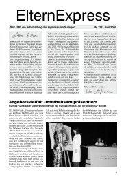 Angebotsvielfalt unterhaltsam präsentiert - Gymnasium Sulingen