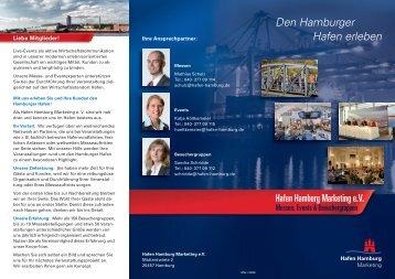 Den Hamburger Hafen erleben - Hafen Hamburg