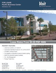 FOR LEASE Pacific Business Center - Voit Real Estate Services