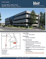 FOR LEASE Scripps Mesa Office Park - Voit Real Estate Services