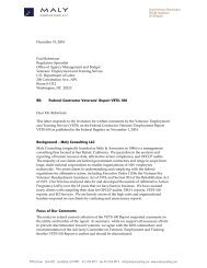 Public Comment Letter - VETS-100 Renewal - Maly Consulting LLC