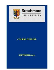 Course outline template - Strathmore University