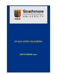 EVALUATING TEACHING - Strathmore University