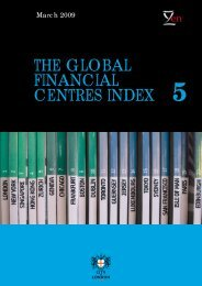 THE GLOBAL FINANCIAL CENTRES INDEX - City of London