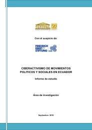 ciberactivismo de los movimientos politicos y ... - FES Ecuador