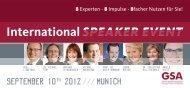 International SPEAKER EVENT