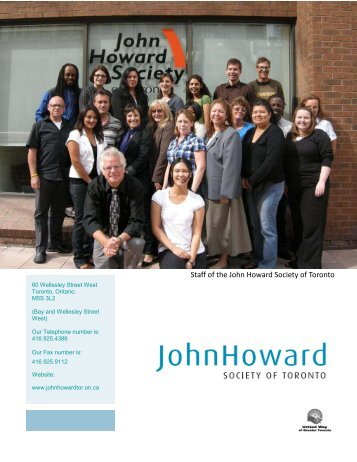 Staff of the John Howard Society of Toronto