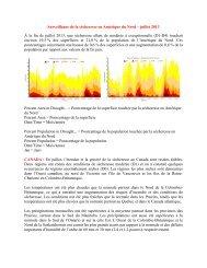 Surveillance de la sécheresse en Amérique du Nord – juillet 2013 À ...