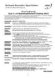 Hegefischen des Landesverbandes - VDSF LV Berlin-Brandenburg ...