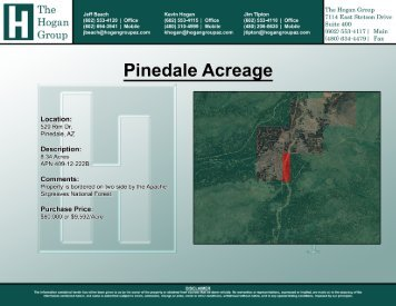 Pinedale, AZ Acreage - The Hogan Group