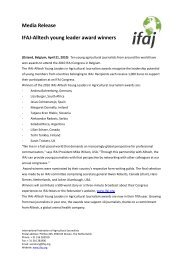 Media Release IFAJ-Alltech young leader award winners