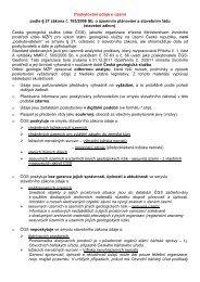 Informace o poskytování údajů (PDF) - Česká geologická služba