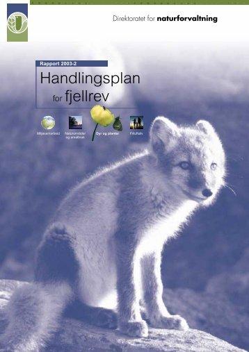 Handlingsplan for fjellrev