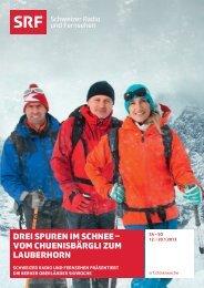 DrEI SPUrEN IM SChNEE – VOM ... - Jungfrau Region