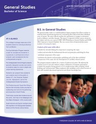 General Studies - College of Arts and Sciences - Nova Southeastern ...